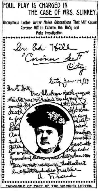 Christina Slinkey article, January 18, 1899